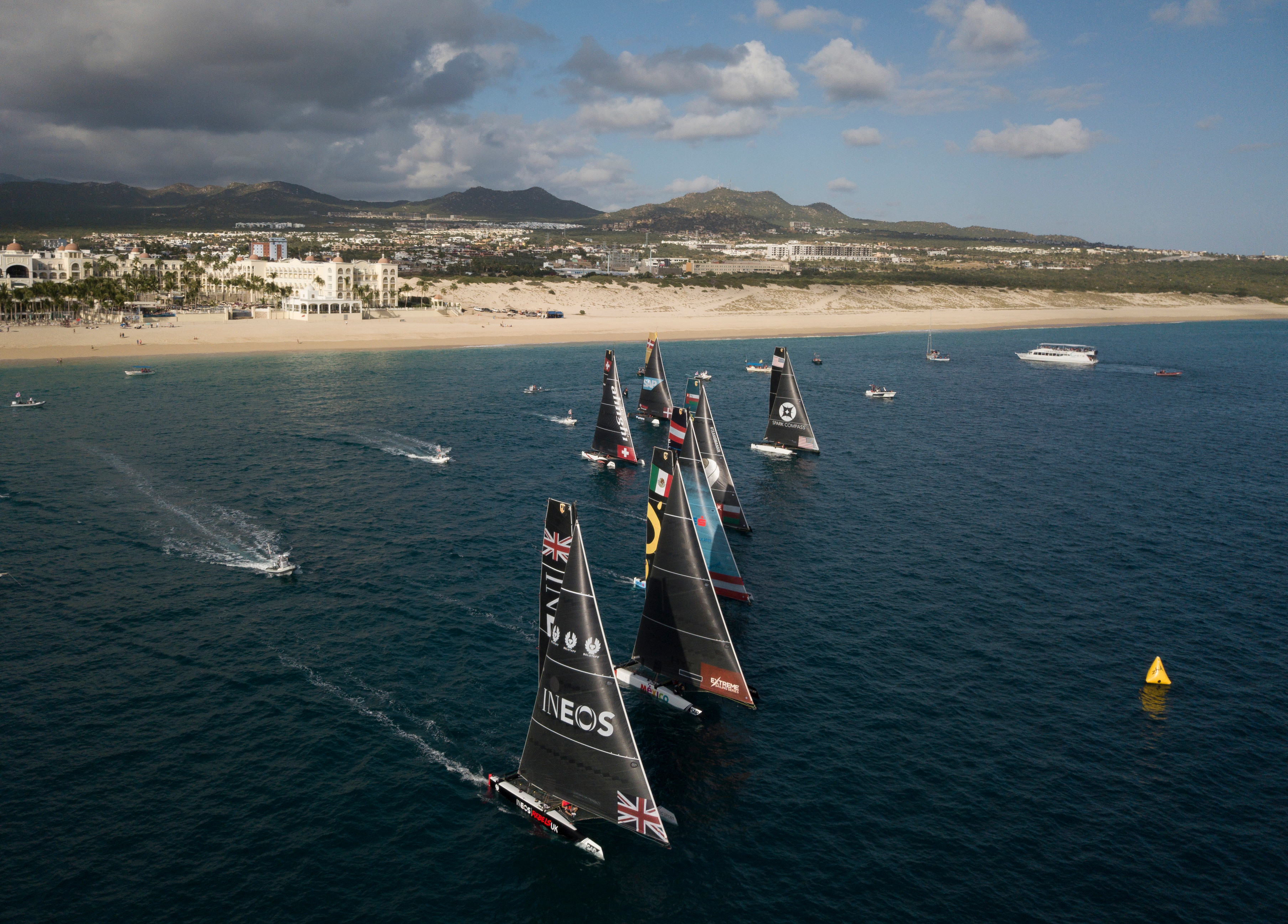 Austrian outfit impressive behind 2018 Extreme Sailing Series champions Alinghi.